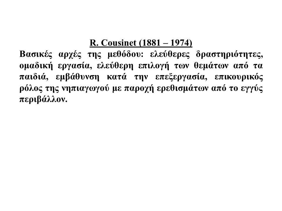 R. Cousinet (1881 – 1974)