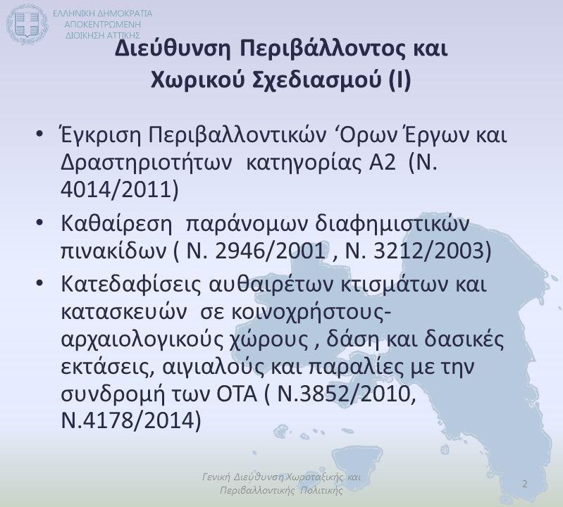 Διεύθυνση Περιβάλλοντος και Χωρικού Σχεδιασμού (Ι)