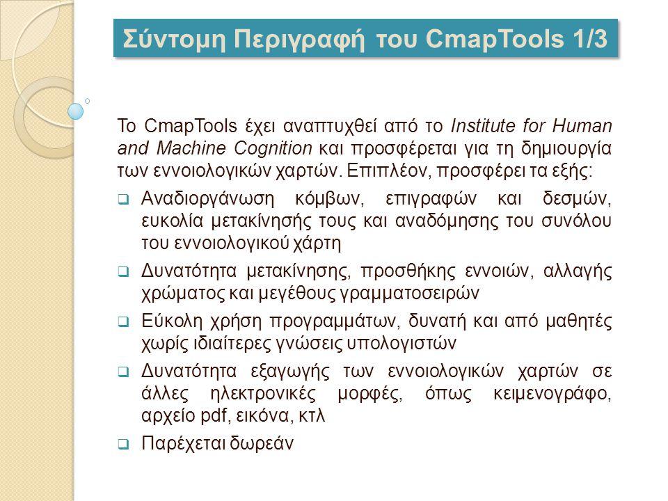 Σύντομη Περιγραφή του CmapTools 1/3