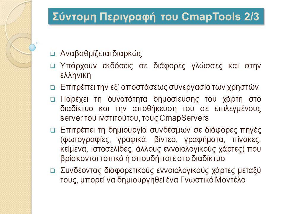 Σύντομη Περιγραφή του CmapTools 2/3