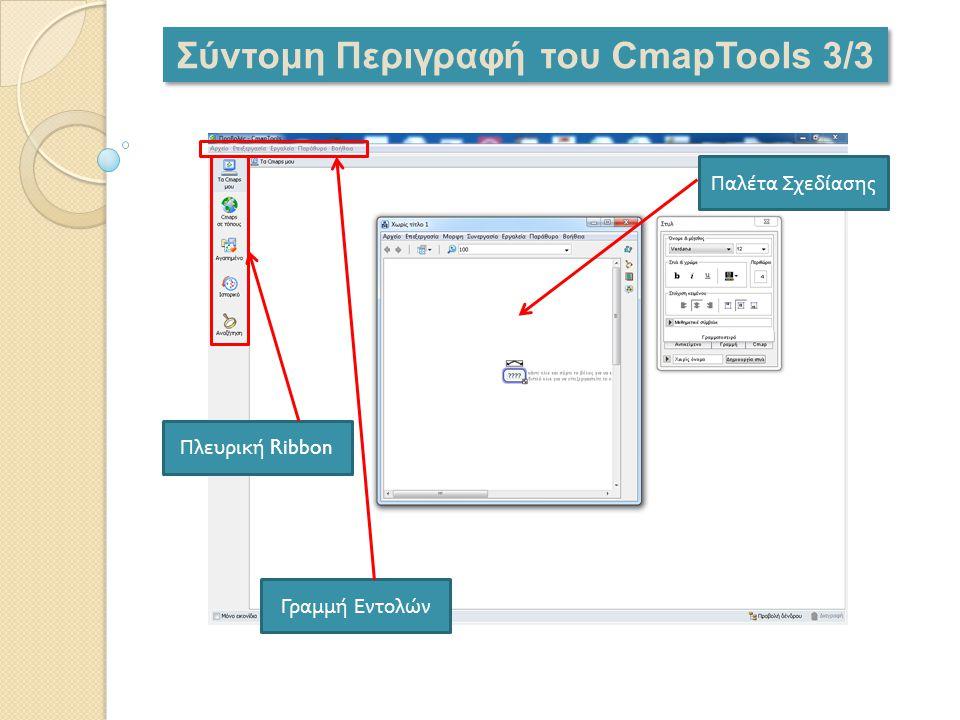 Σύντομη Περιγραφή του CmapTools 3/3