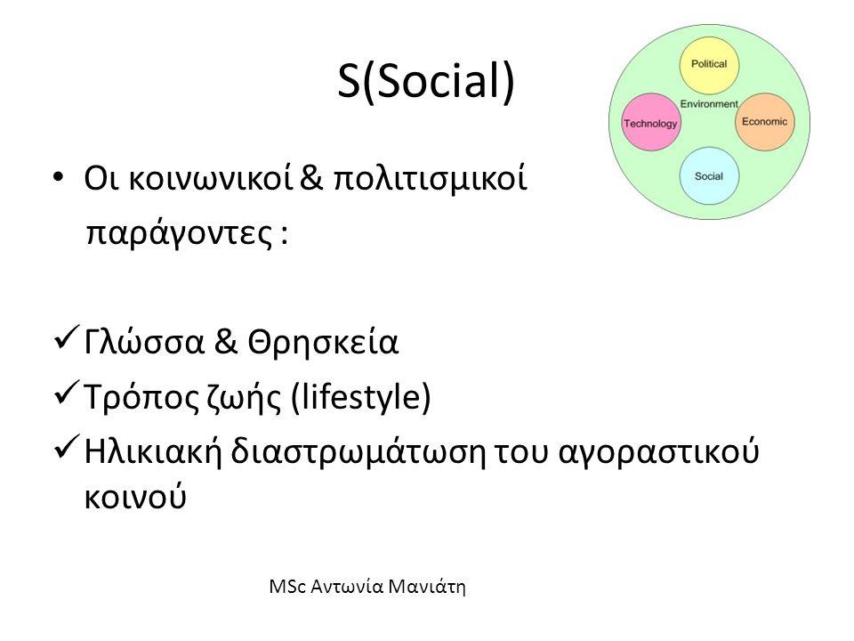 S(Social) Οι κοινωνικοί & πολιτισμικοί παράγοντες : Γλώσσα & Θρησκεία