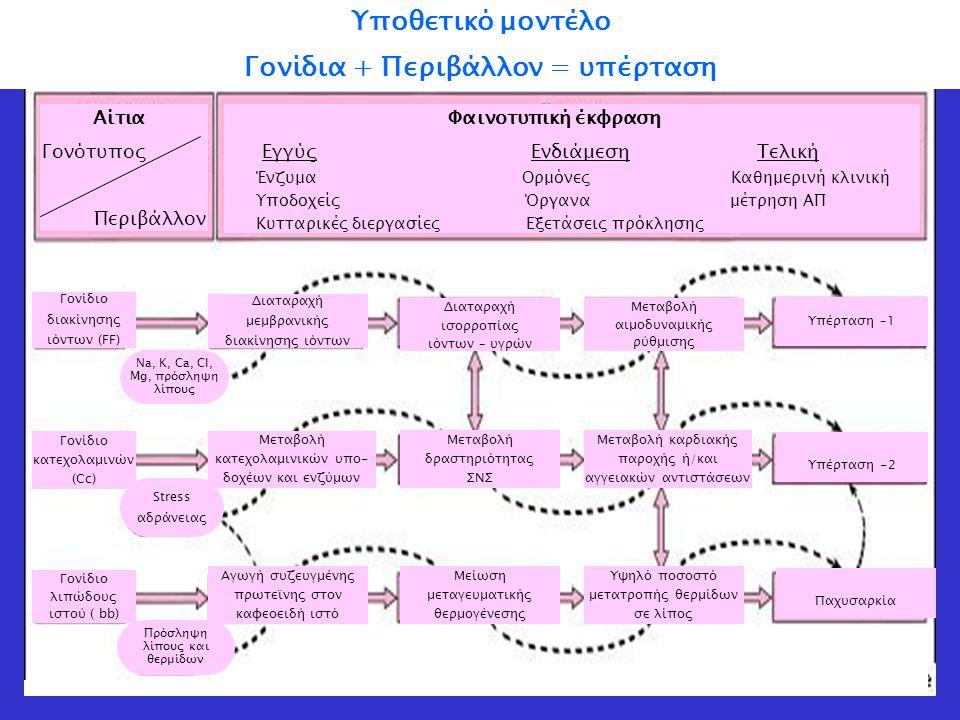 Γονίδια + Περιβάλλον = υπέρταση