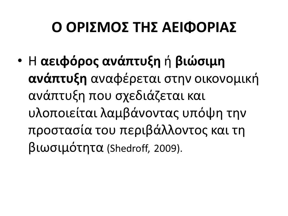 Ο ΟΡΙΣΜΟΣ ΤΗΣ ΑΕΙΦΟΡΙΑΣ