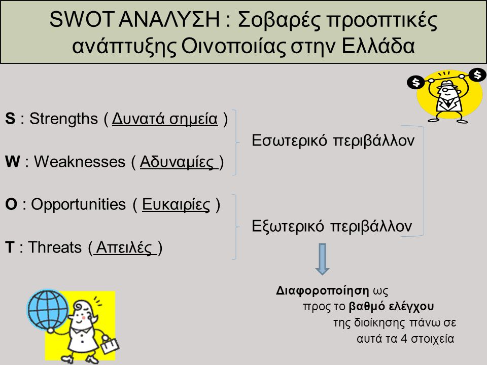 SWOT ΑΝΑΛΥΣΗ : Σοβαρές προοπτικές ανάπτυξης Οινοποιίας στην Ελλάδα