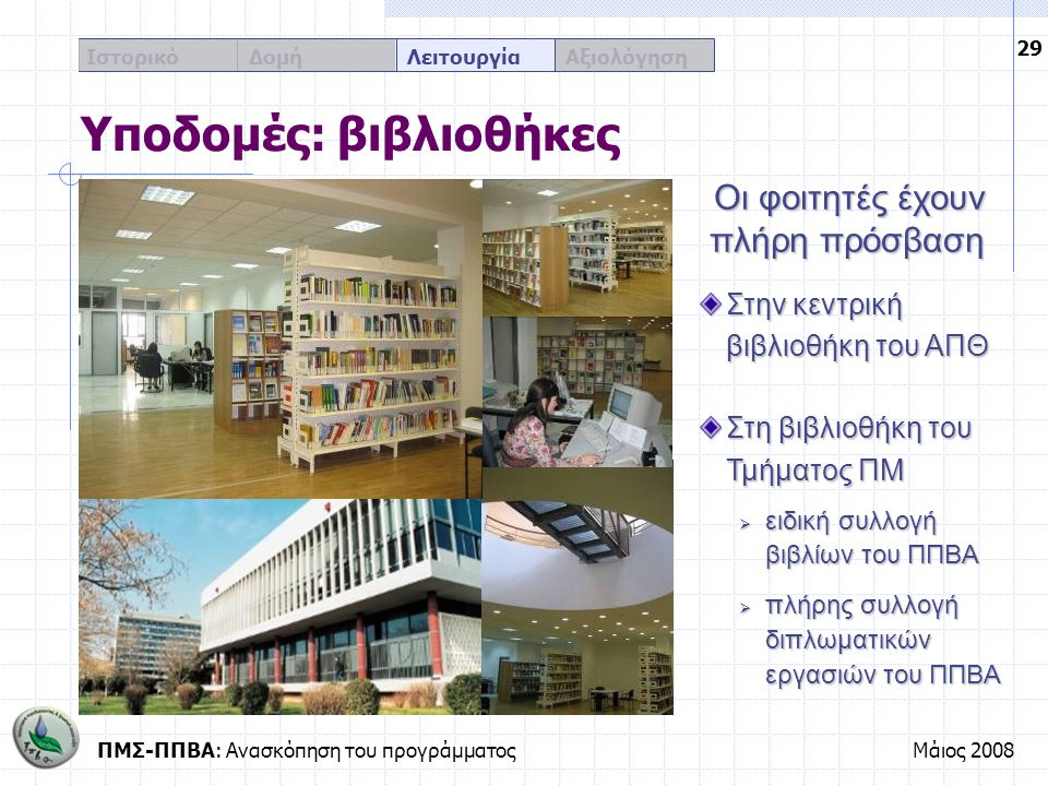 Υποδομές: βιβλιοθήκες