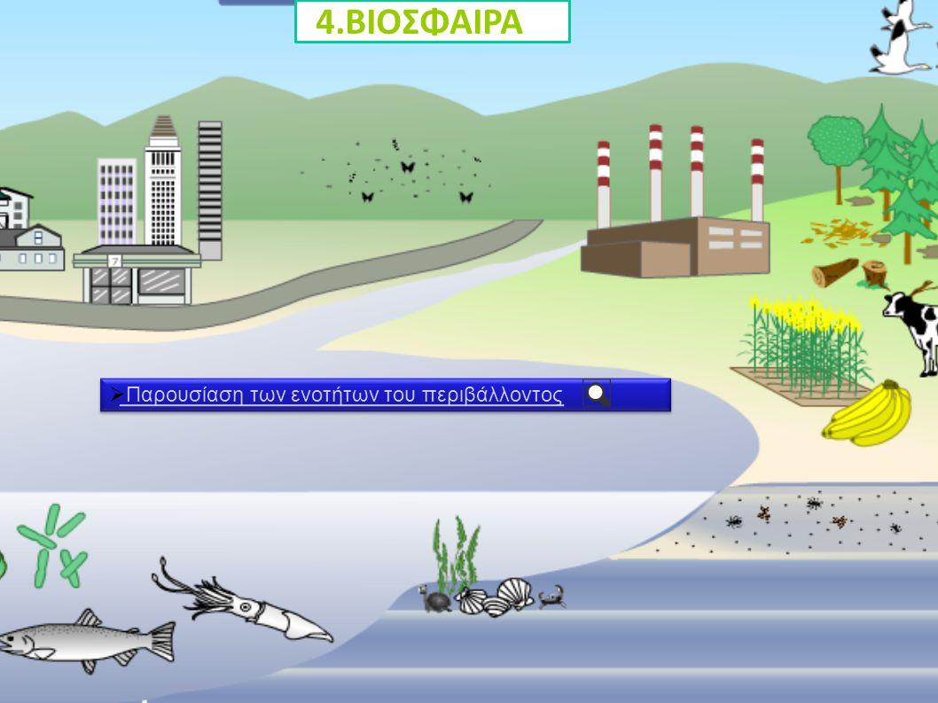 4.ΒΙΟΣΦΑΙΡΑ Παρουσίαση των ενοτήτων του περιβάλλοντος