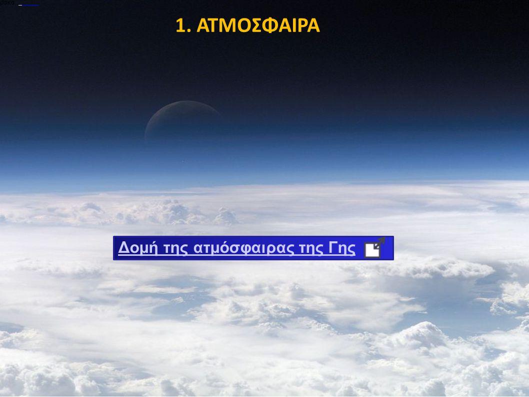 ρακα. 1. ΑΤΜΟΣΦΑΙΡΑ Δομή της ατμόσφαιρας της Γης