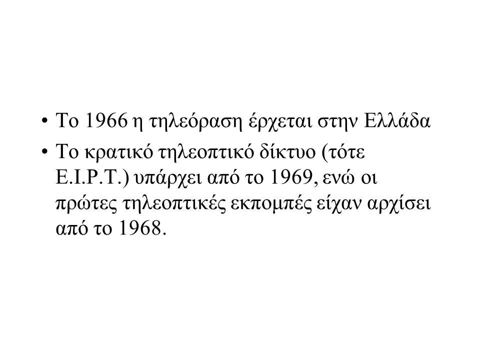 Το 1966 η τηλεόραση έρχεται στην Ελλάδα