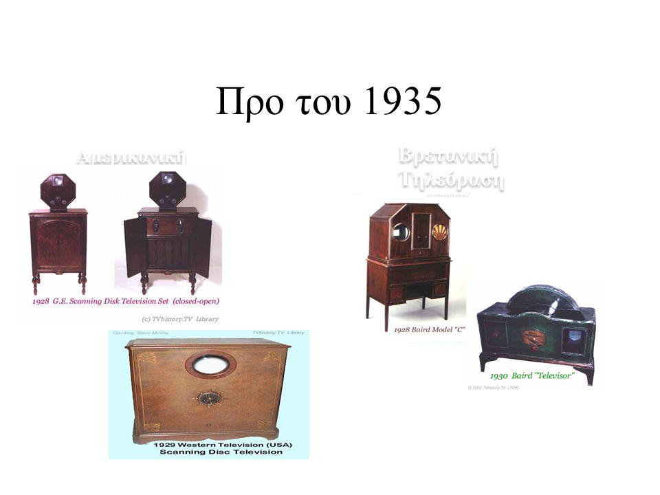 Προ του 1935 Βρετανική Τηλεόραση Αμερικανική Τηλεόραση