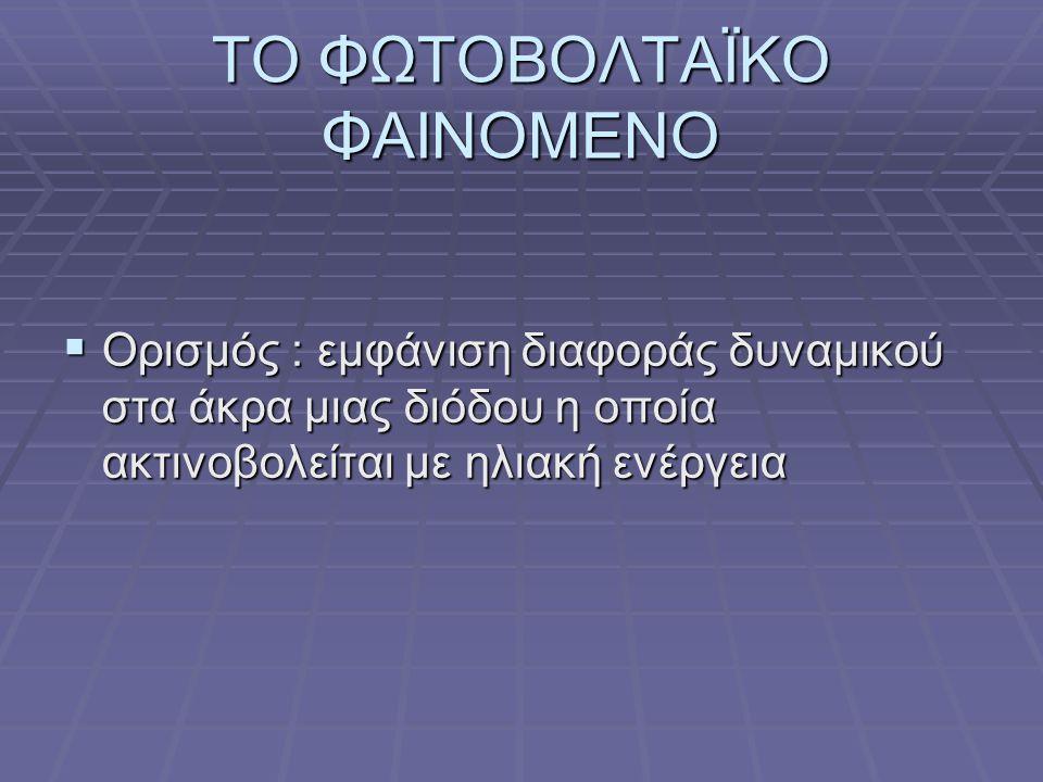 ΤΟ ΦΩΤΟΒΟΛΤΑΪΚΟ ΦΑΙΝΟΜΕΝΟ