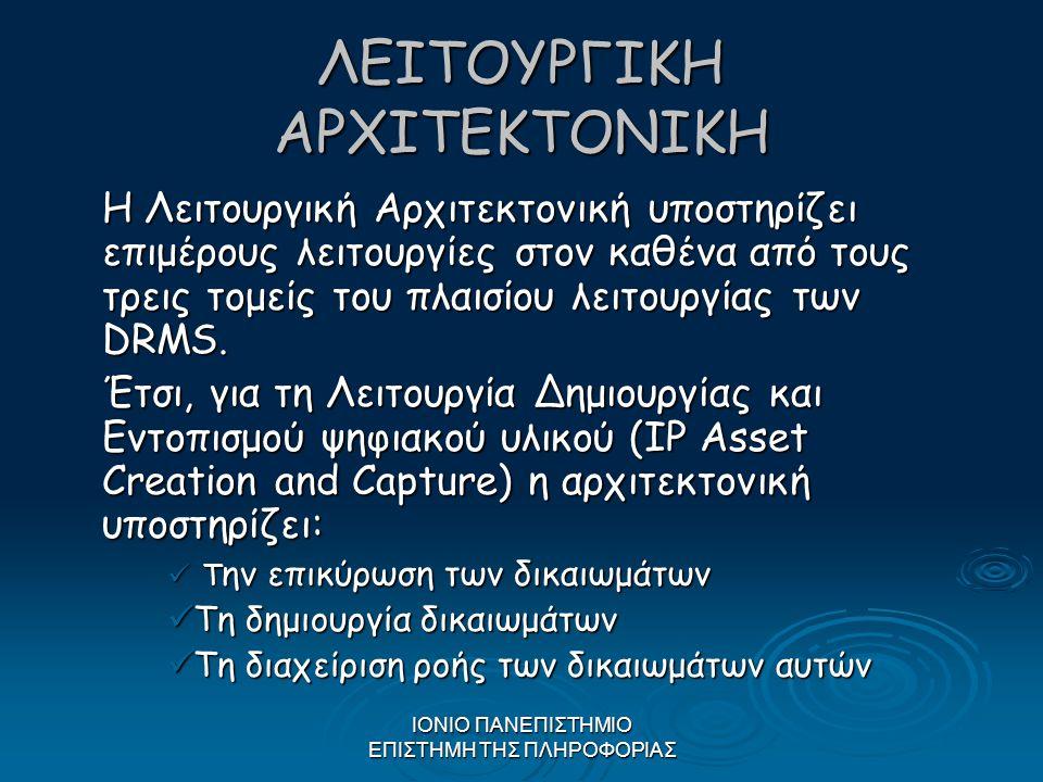 ΛΕΙΤΟΥΡΓΙΚΗ ΑΡΧΙΤΕΚΤΟΝΙΚΗ