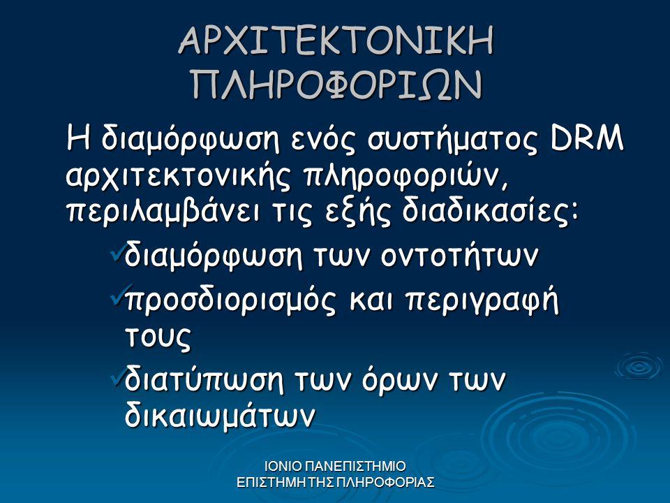 ΑΡΧΙΤΕΚΤΟΝΙΚΗ ΠΛΗΡΟΦΟΡΙΩΝ