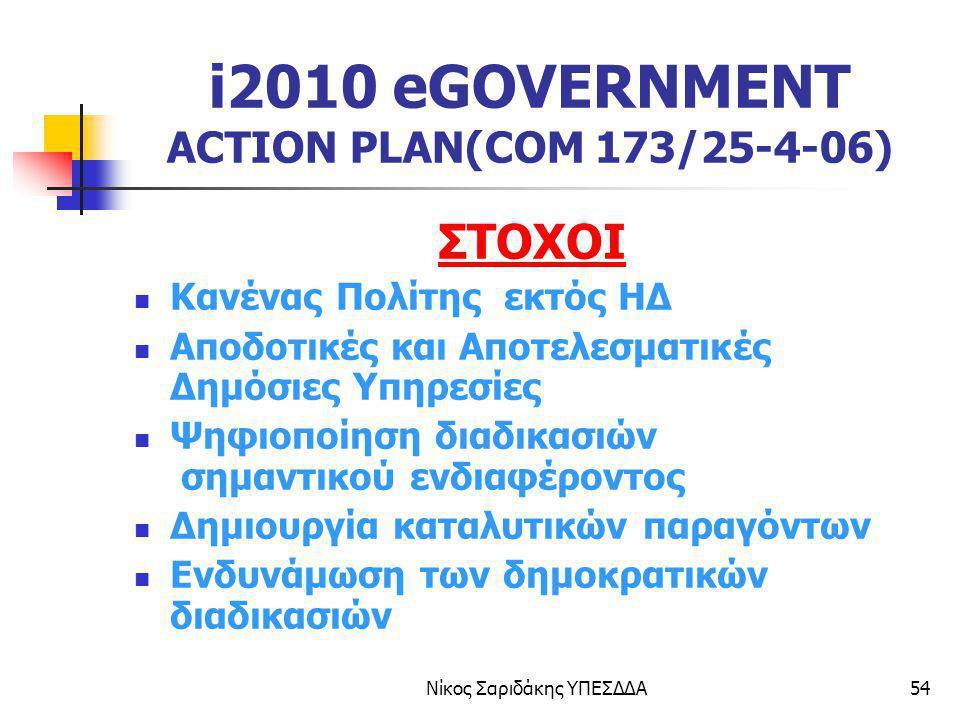 i2010 eGOVERNMENT ACTION PLAN(COM 173/25-4-06)
