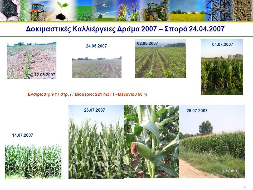 Δοκιμαστικές Καλλιέργειες Δράμα 2007 – Σπορά 24.04.2007