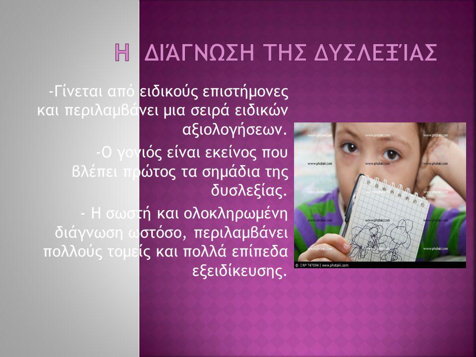 Η διάγνωση της δυσλεξίας