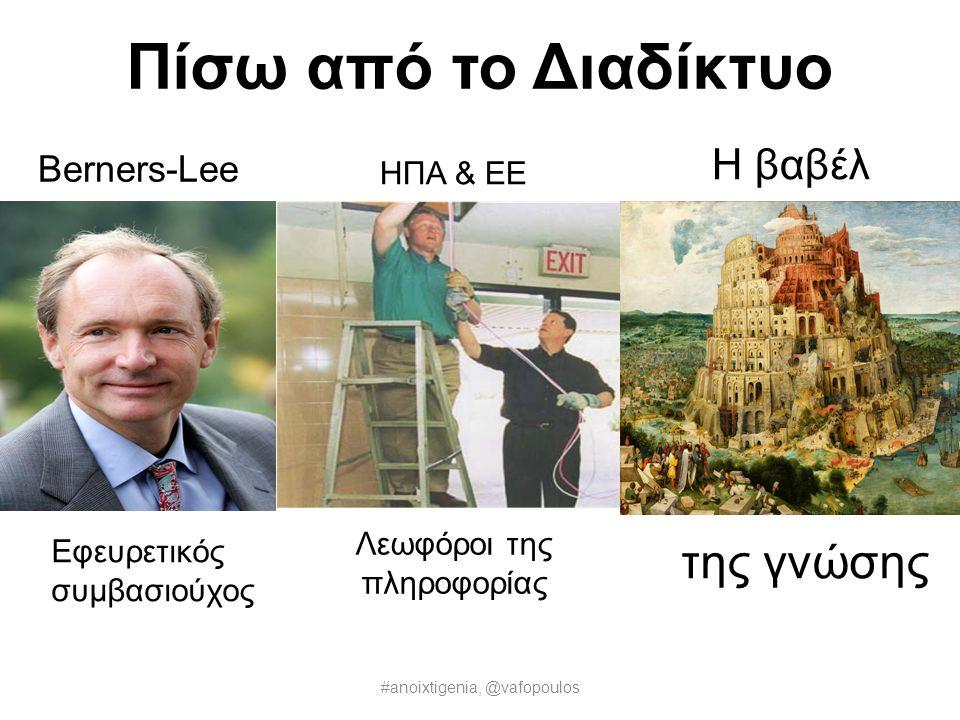 Πίσω από το Διαδίκτυο της γνώσης Η βαβέλ Berners-Lee ΗΠΑ & ΕΕ