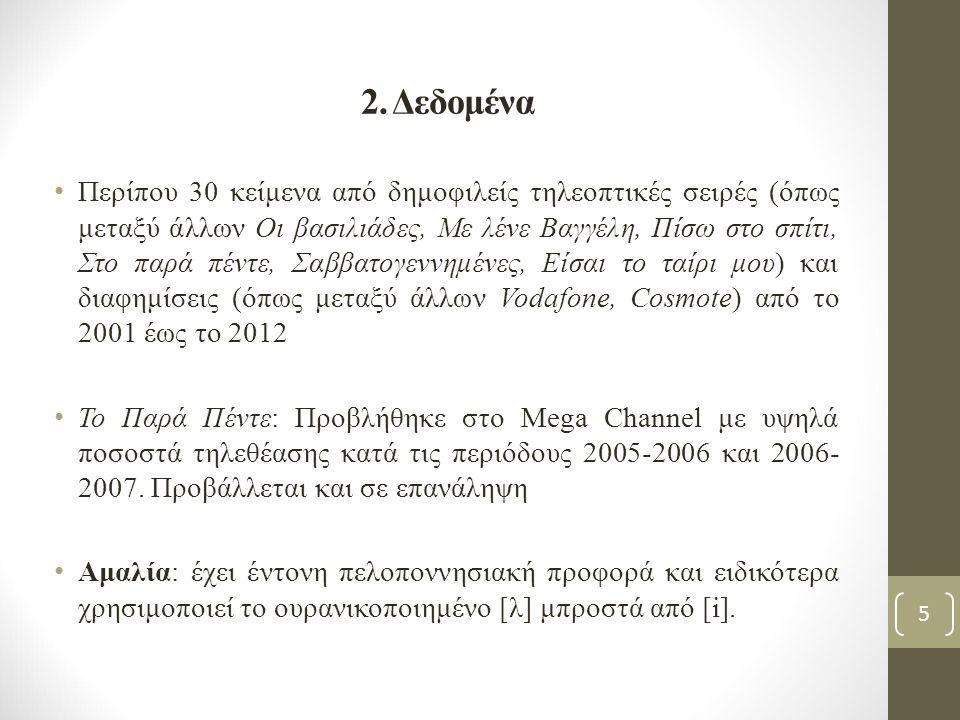 2. Δεδομένα