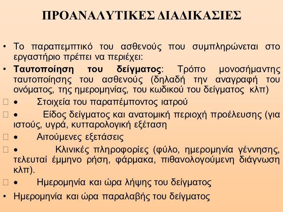 ΠΡΟΑΝΑΛΥΤΙΚΕΣ ΔΙΑΔΙΚΑΣΙΕΣ