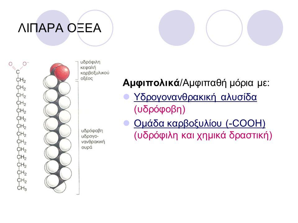 ΛΙΠΑΡΑ ΟΞΕΑ Αμφιπολικά/Αμφιπαθή μόρια με: