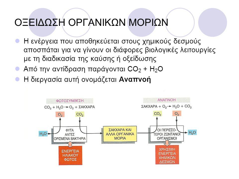 ΟΞΕΙΔΩΣΗ ΟΡΓΑΝΙΚΩΝ ΜΟΡΙΩΝ