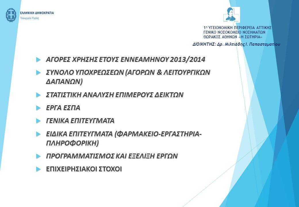 ΑΓΟΡΕΣ ΧΡΗΣΗΣ ΕΤΟΥΣ ΕΝΝΕΑΜΗΝΟΥ 2013/2014