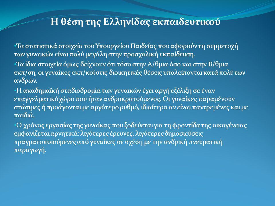 Η θέση της Ελληνίδας εκπαιδευτικού