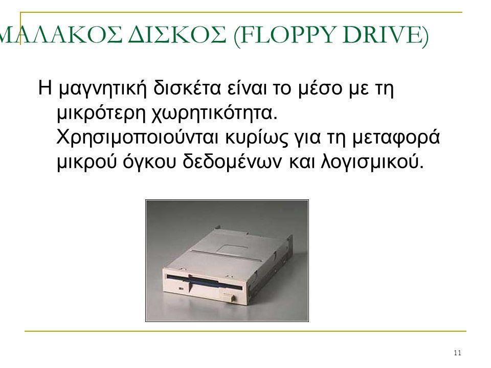 ΜΑΛΑΚΟΣ ΔΙΣΚΟΣ (FLOPPY DRIVE)