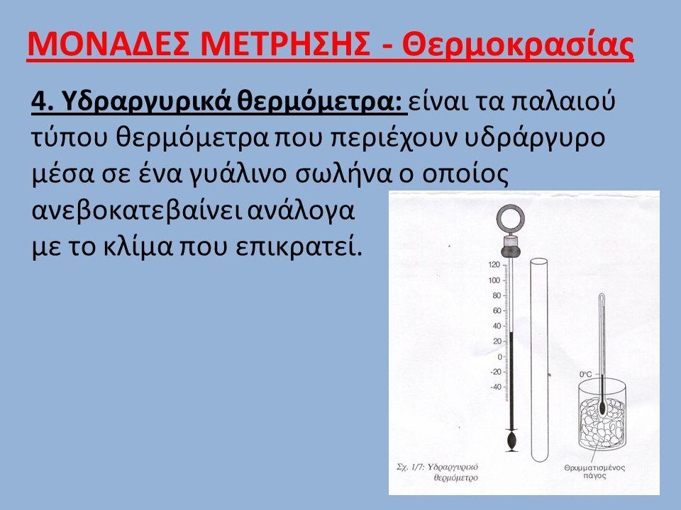 ΜΟΝΑΔΕΣ ΜΕΤΡΗΣΗΣ - Θερμοκρασίας