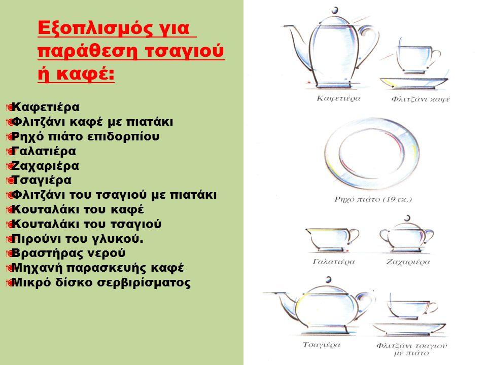 Εξοπλισμός για παράθεση τσαγιού ή καφέ: Καφετιέρα
