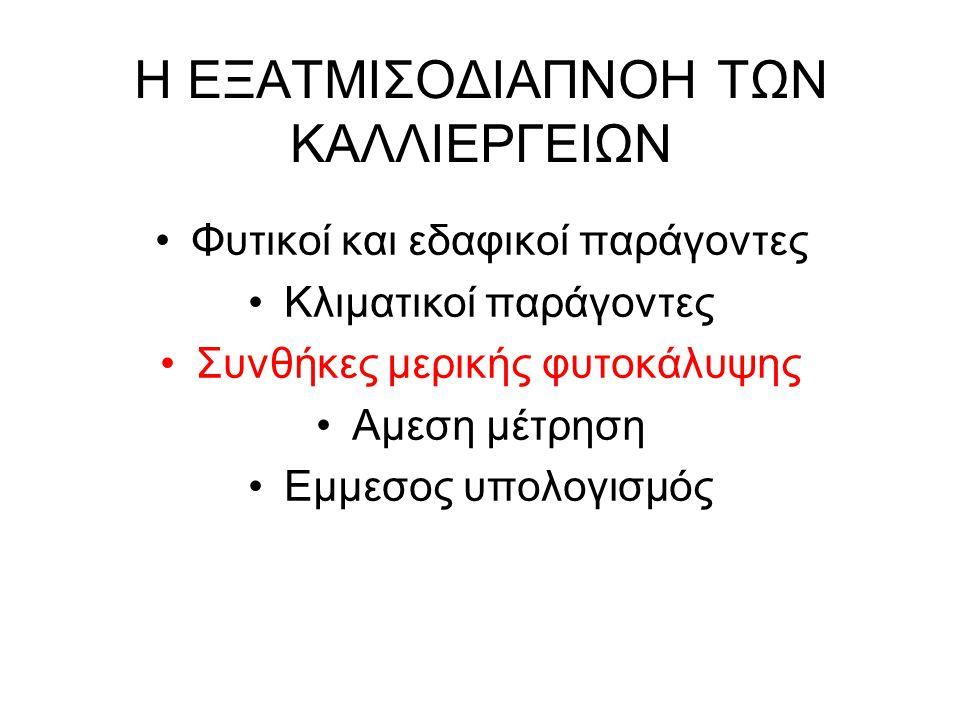 Η ΕΞΑΤΜΙΣΟΔΙΑΠΝΟΗ ΤΩΝ ΚΑΛΛΙΕΡΓΕΙΩΝ