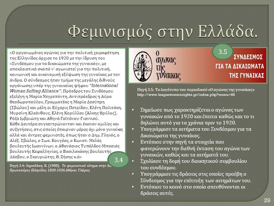 Φεμινισμός στην Ελλάδα.