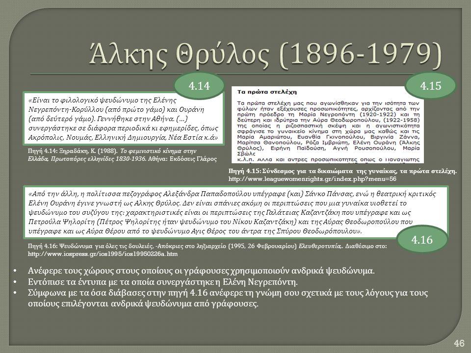 Άλκης Θρύλος (1896-1979) 4.14. 4.15.