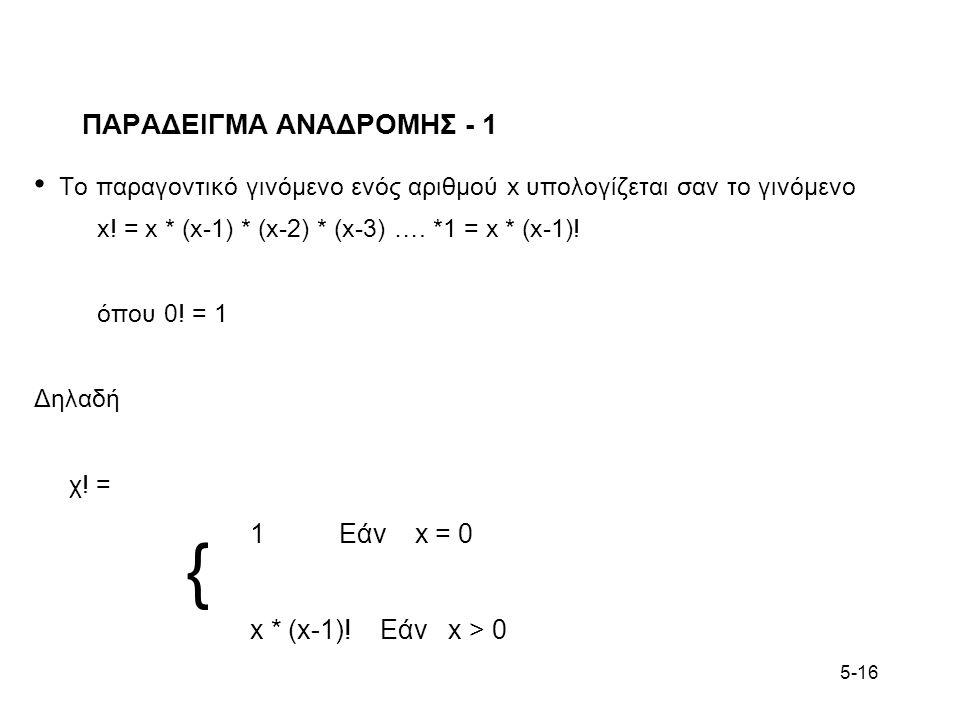 ΠΑΡΑΔΕΙΓΜΑ ΑΝΑΔΡΟΜΗΣ - 1