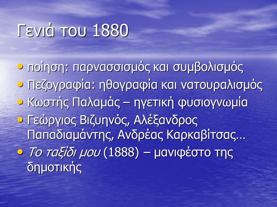 Γενιά του 1880 ποίηση: παρνασσισμός και συμβολισμός