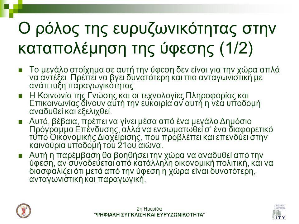 Ο ρόλος της ευρυζωνικότητας στην καταπολέμηση της ύφεσης (1/2)