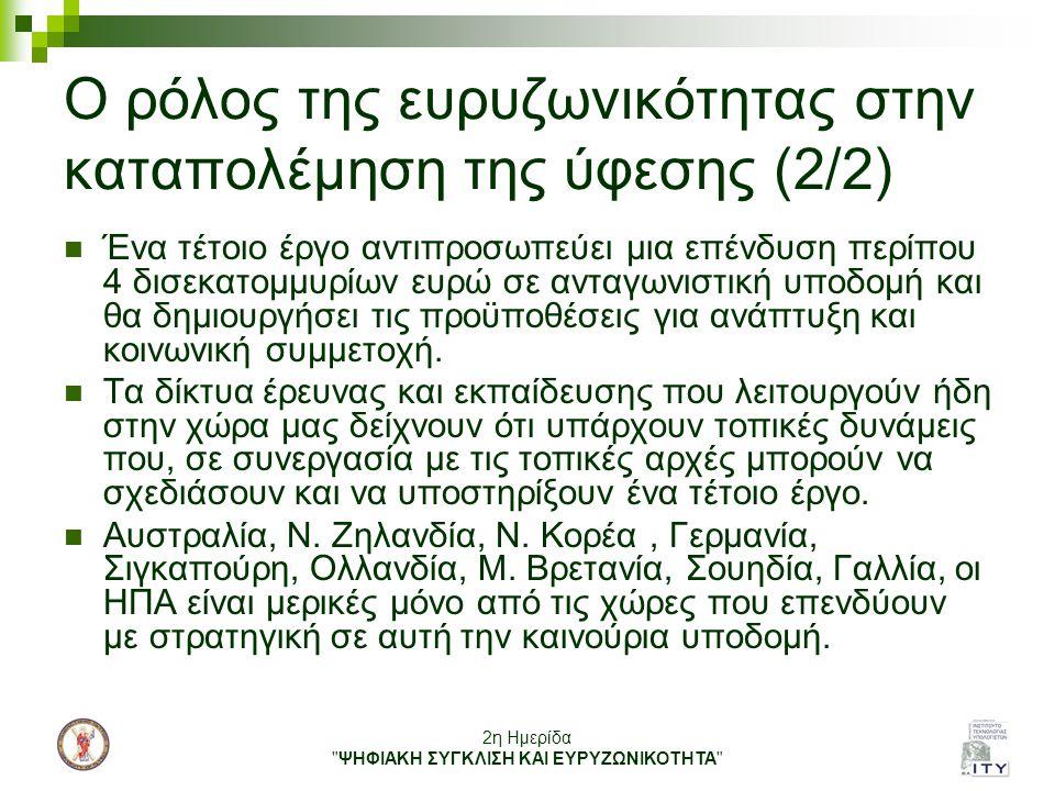 Ο ρόλος της ευρυζωνικότητας στην καταπολέμηση της ύφεσης (2/2)