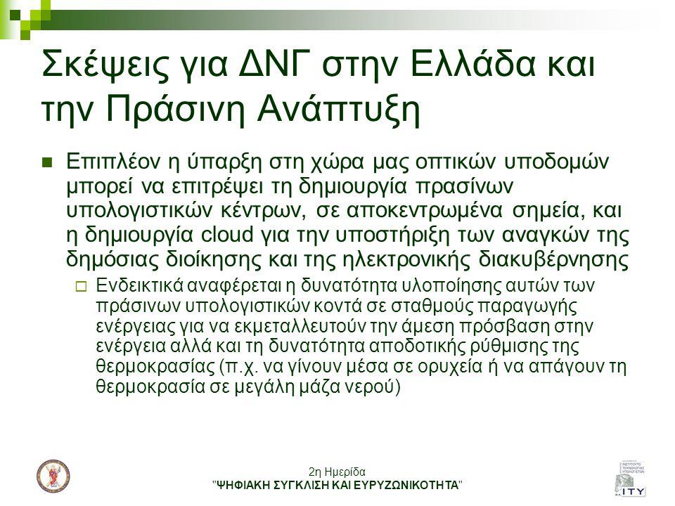 Σκέψεις για ΔΝΓ στην Ελλάδα και την Πράσινη Ανάπτυξη