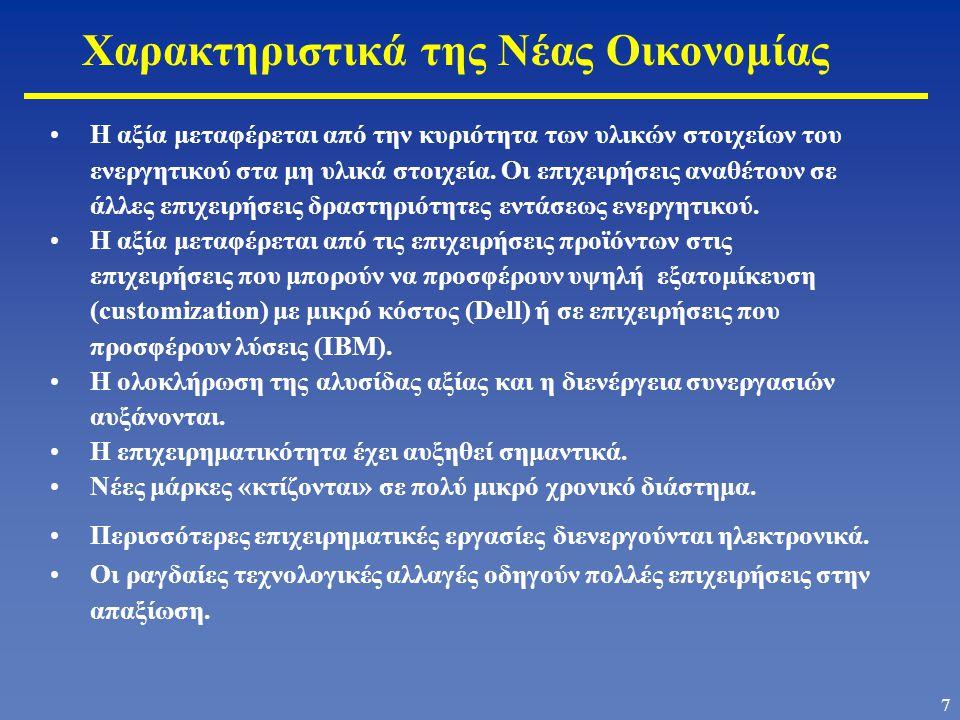 Χαρακτηριστικά της Νέας Οικονομίας