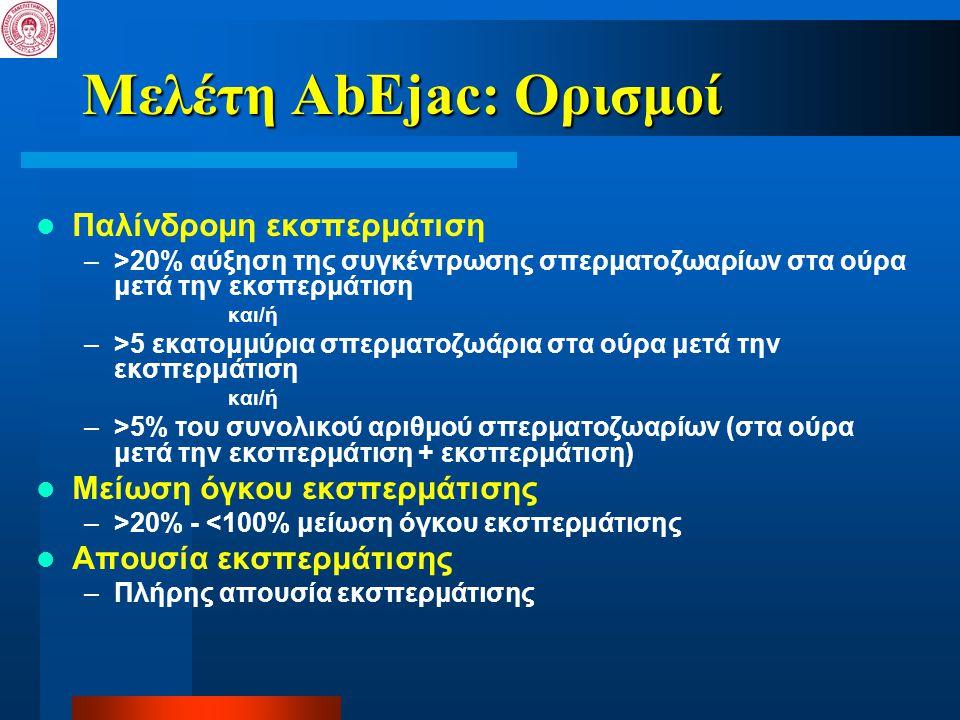 Μελέτη AbEjac: Ορισμοί