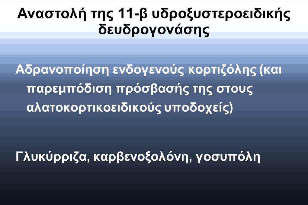 Αναστολή της 11-β υδροξυστεροειδικής δευδρογονάσης