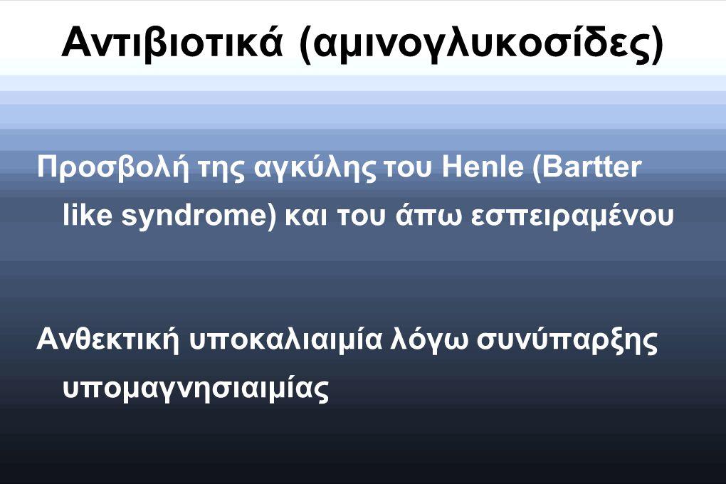 Αντιβιοτικά (αμινογλυκοσίδες)
