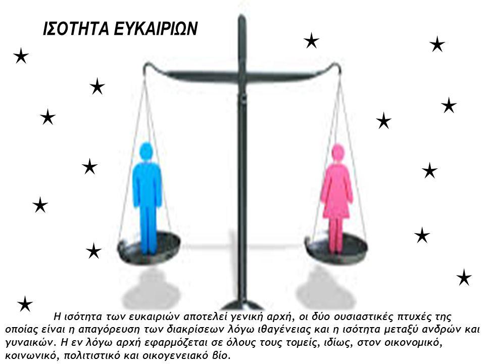 ΙΣΟΤΗΤΑ ΕΥΚΑΙΡΙΩΝ