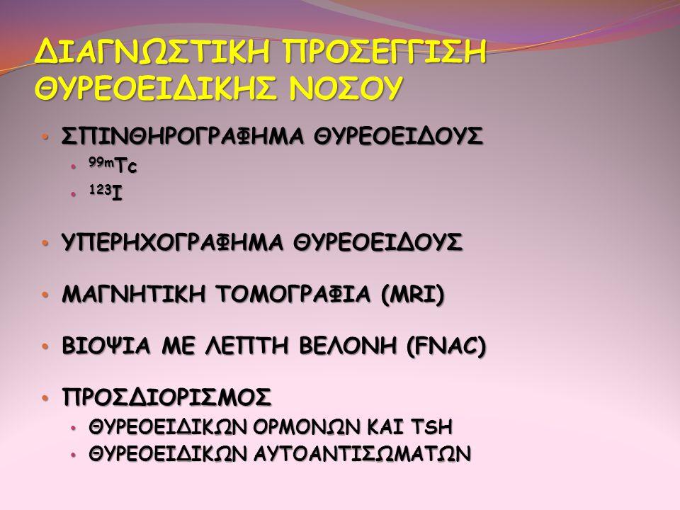 ΔΙΑΓΝΩΣΤΙΚΗ ΠΡΟΣΕΓΓΙΣΗ ΘΥΡΕΟΕΙΔΙΚΗΣ ΝΟΣΟΥ