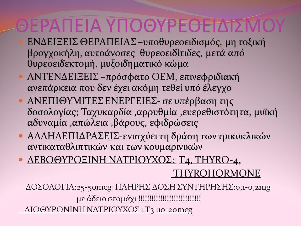 ΘΕΡΑΠΕΙΑ ΥΠΟΘΥΡΕΟΕΙΔΙΣΜΟΥ