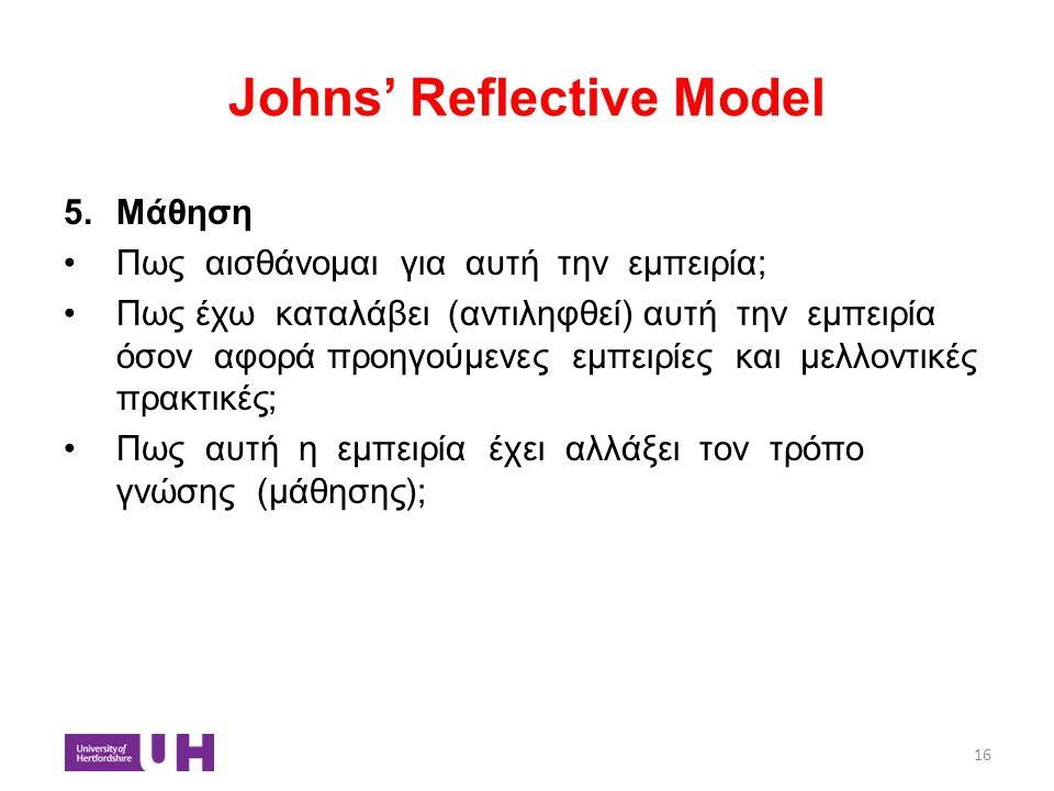 Johns' Reflective Model