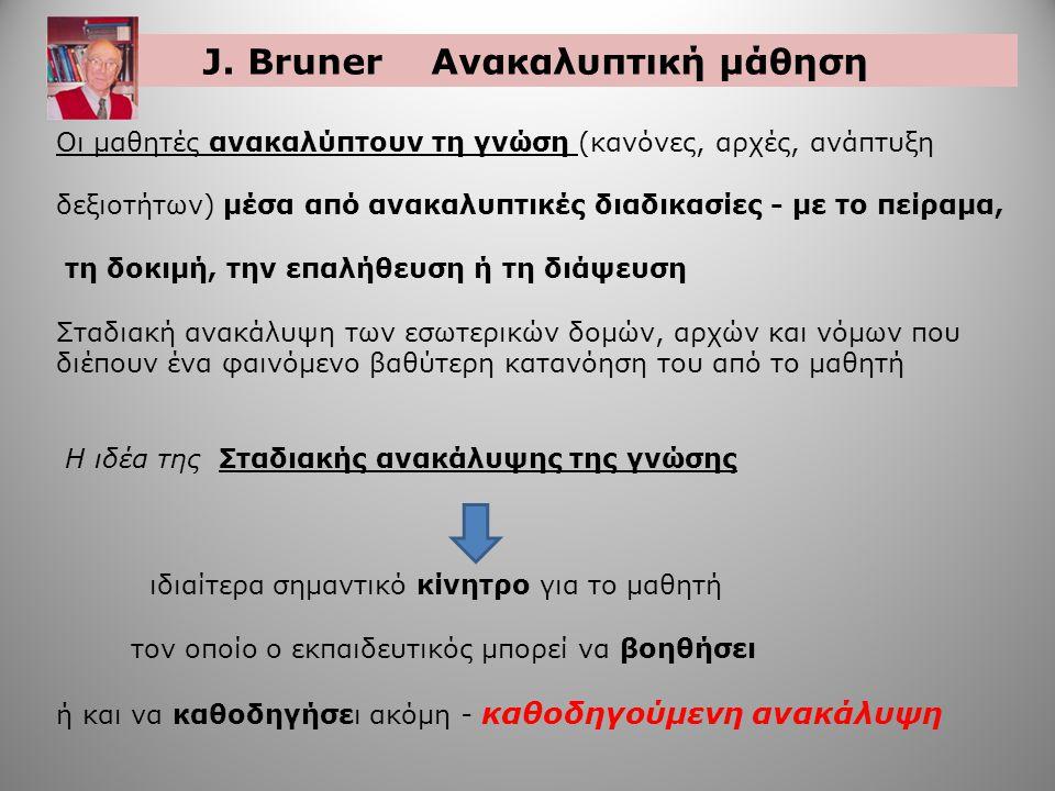J. Bruner Ανακαλυπτική μάθηση