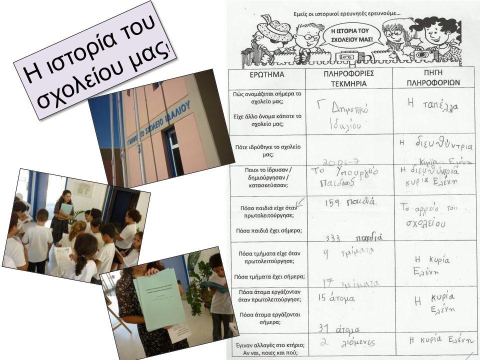 Η ιστορία του σχολείου μας!