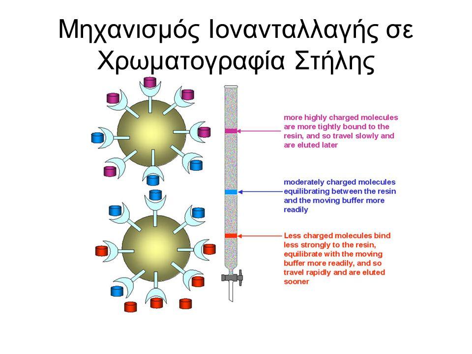 Μηχανισμός Ιονανταλλαγής σε Χρωματογραφία Στήλης