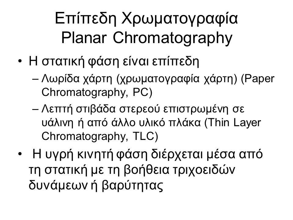 Επίπεδη Χρωματογραφία Planar Chromatography